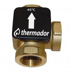 Vanne thermostatique THERMOVAR pour chaudière à combustible solide