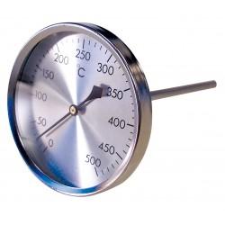 Thermomètre pour gaz de fumées D80 sonde avec gaine