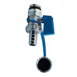 Robinet de vidange poignée bleue ou rouge pour collecteur série STC