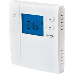 Thermostat d'ambiance digital radio IP20 à piles