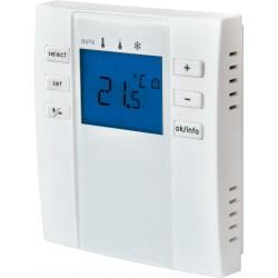 Thermostat d'ambiance digital radio IP20 à piles avec télécommande