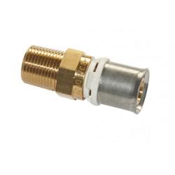 Raccord laiton à sertir type radial écrou mâle fixe laiton pour tube multicouche