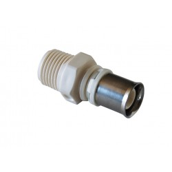Raccord à sertir type radial mâle fixe PPSU pour tube multicouche