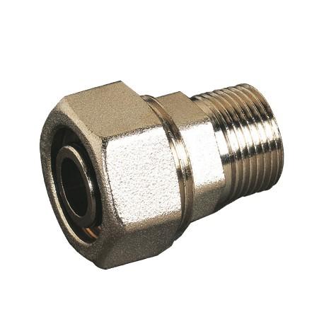 Raccord mâle à compression laiton pour tubes multicouches