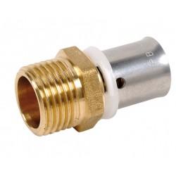 Raccord mâle fixe à sertir type radial pour PER ou PB