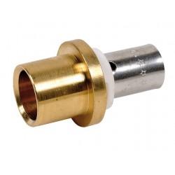 Raccord adaptateur pour tube cuivre à sertir type radial pour PER ou PB
