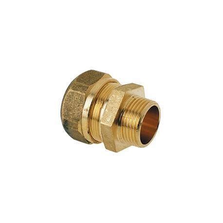 Raccord Mâle à compression gros diamètres pour tube PER ou PB