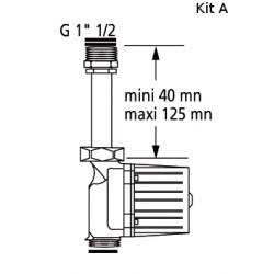 """Kit """"RAPID'SERVICE"""" télescopique pour circulateurs de la gamme domestique filetés"""