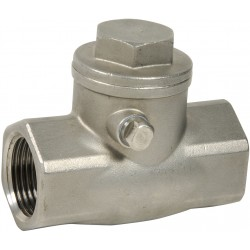 Clapet de non-retour simple battant acier inox ASTM A351 CF8M
