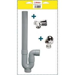 Kit pour machine à laver robinet + applique + siphon