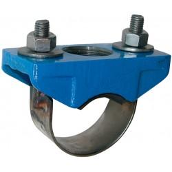 Collier de prise en charge fonte EN GJS-400-15 pour multitubes