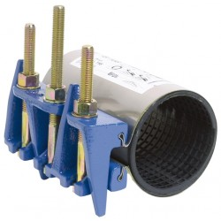 Collier de réparation et de jonction définitive pour tubes rigides 3 tirants