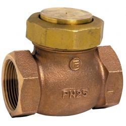 Clapet de non-retour à levée verticale bronze à obturateur inox ASTM A182 F316L