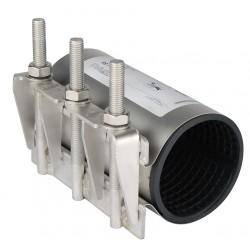 Collier de réparation et de jonction définitive pour tubes rigides 3 tirants EPDM vulcanisé