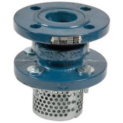 Clapet crépine de non-retour fonte en GJL-250 obturateur acier inox toutes positions simple guidage à brides