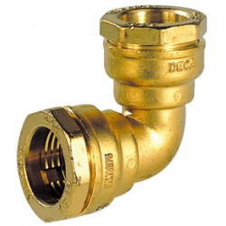 Coude de jonction 90° laiton DECA à serrage extérieur pour tube polyéthylène