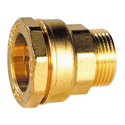 Raccords laiton DECA mâle BSP à serrage extérieur pour tube polyéthylène série fer
