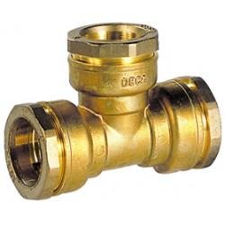 Té égal laiton DECA à serrage extérieur pour tube acier