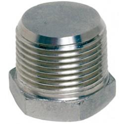 Raccord bouchon mâle hexagonal modèle plein acier inox ASTM A351 CF8M