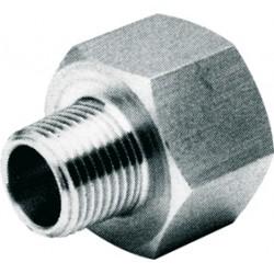 Raccord réduction femelle - mâle acier inox ASTM A351 CF8M