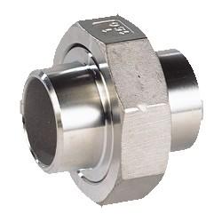 Raccord union à souder BW acier inox ASTM A351 CF8M BSP à portée conique