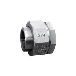 Raccord union 3 pièces usinés femelle - femelle acier inox ASTM A312 F316L BSP