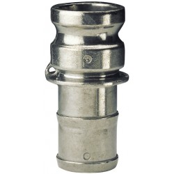 Raccord à cames aluminium adaptateur cannelé E