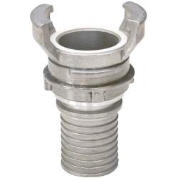 Raccord symétrique aluminium à douille annelé réduit à verrou avec collerette BSP