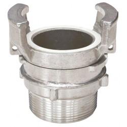 Raccord symétrique aluminium mâle à verrou BSP