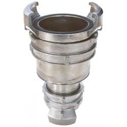 Raccord symétrique acier inox réduction à verrou BSP