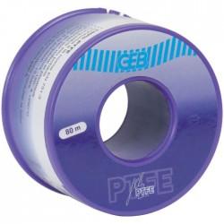 Fil 100% PTFE GEB pour raccords filetés métalliques et plastiques 80m