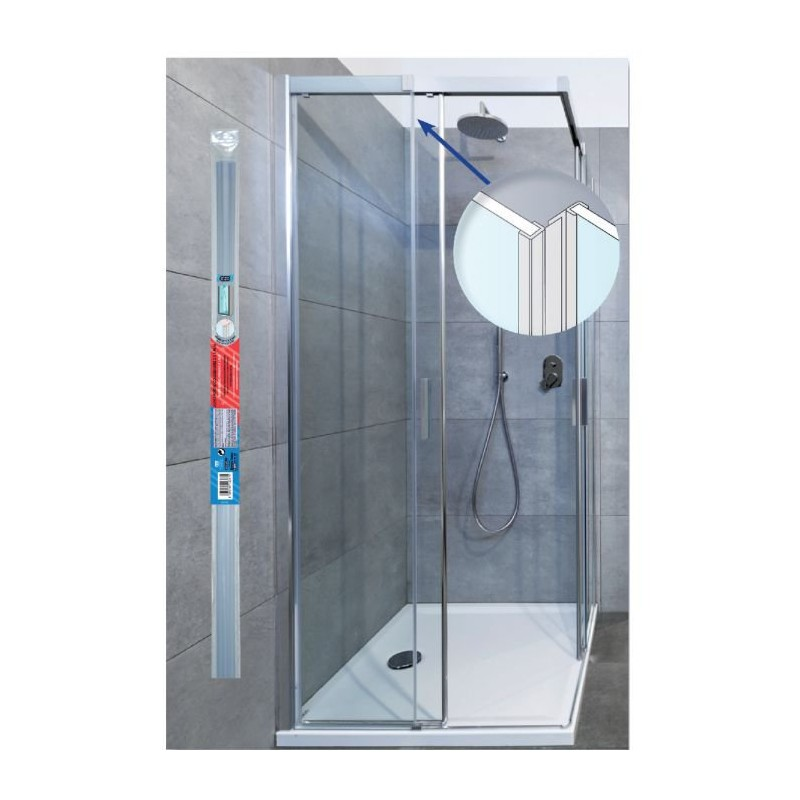 Joint c t de porte de douche coulissante translucide 1 95 for Joint douche porte