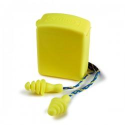 Paire de bouchon anti-bruit souples reliés + boîte