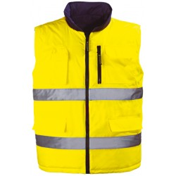 Gilet réversible HI-WAY YELLOW jaune VICE-VERSA