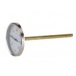 """Thermomètre avec plongeur -30°C à 50°C doigt de gant Ø1/2"""""""