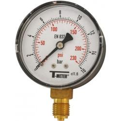 Manomètre radial boîtier ABS Ø63