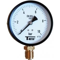 Manomètre radial 1/2'' boîtier ABS Ø100 classe 1,6%