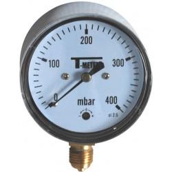"Manomètre radial 1/4"" boîtier ABS Ø63 classe 2,5%"