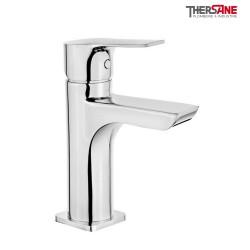 Mitigeur chromé lavabo bec cascade THEWA JAL17
