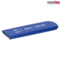 Gaine bleue pour vannes RBS 3 pièces platine ISO