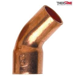 Coude grand rayon 45° cuivre MF mâle - femelle à souder 5040