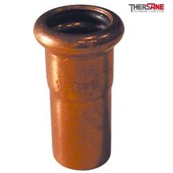Raccord cuivre à sertir mamelon réduit 6243 m-f