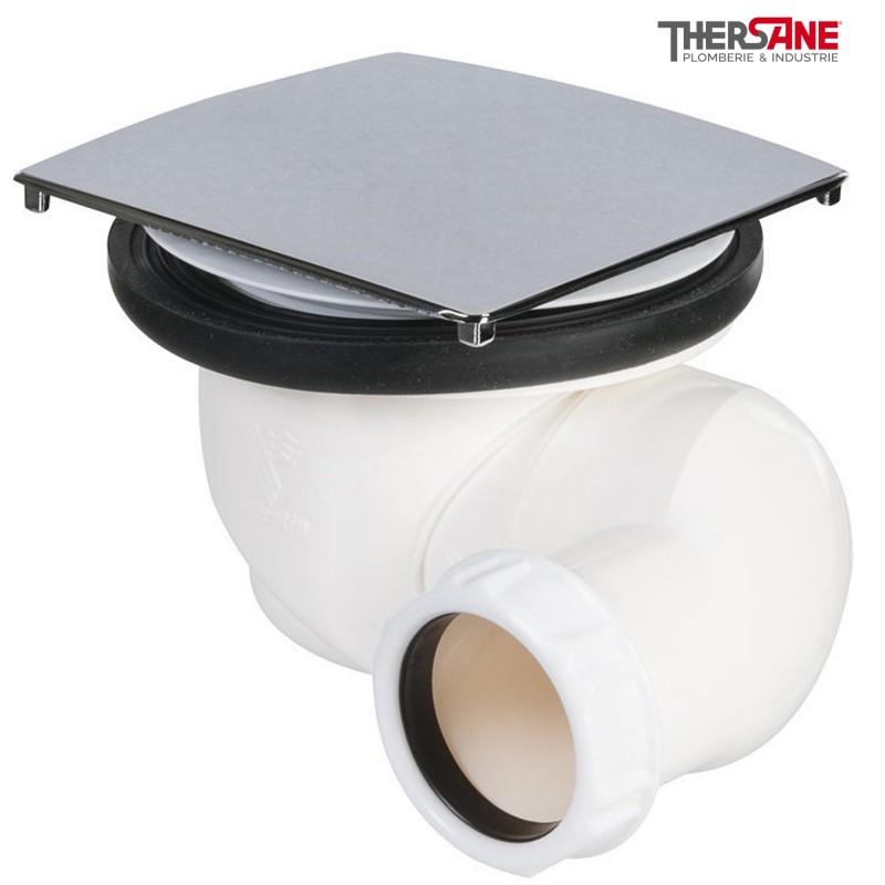 bonde de douche carr universelle sortie horizontale pour receveur 90. Black Bedroom Furniture Sets. Home Design Ideas