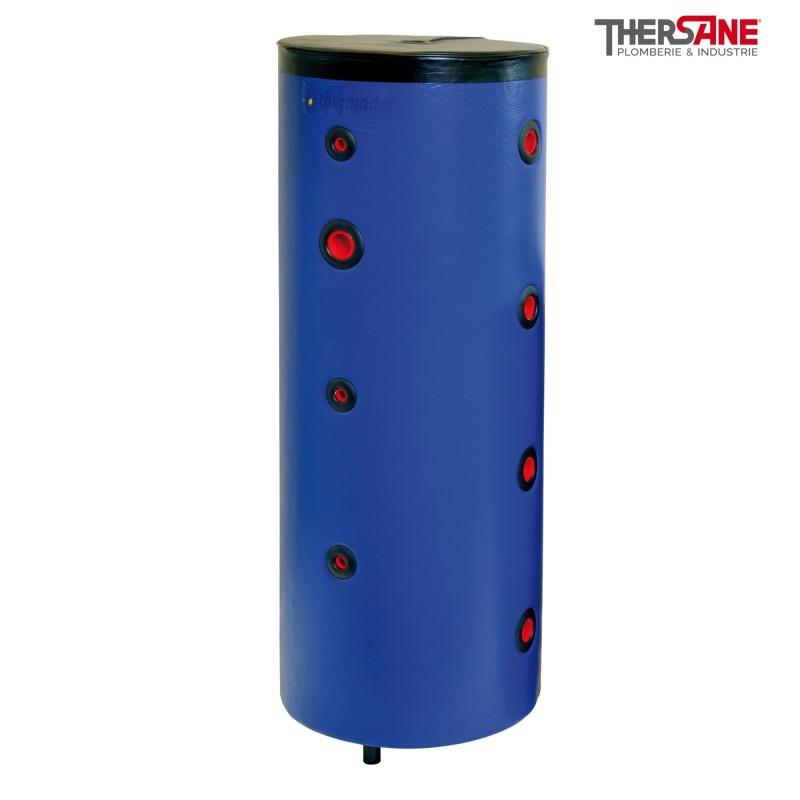 Ballon tampon inox 4 piquages par c t sur pieds pour chauffage et climatisation - Ballon tampon chauffage ...