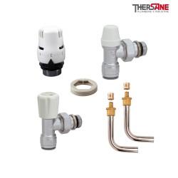 """Kit de branchement complet """"PUSH-FIT"""" pour radiateur avec raccords à sertir pour tube PB ou PER 10/12"""