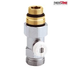 """Vanne droite simple en H pour radiateur à robinetterie intégrée 1/2"""" et 3/4"""""""