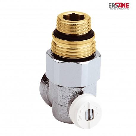 """Vanne droite équerre en H pour radiateur à robinetterie intégrée 1/2"""" et 3/4"""""""