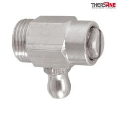 """Vidange de radiateur laiton nickelé acier avec joint torique mâle 3/8"""""""