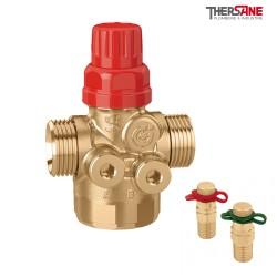 Vanne de régulation et d'équilibrage automatique avec vannes de pression