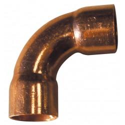 Coude grand rayon 90° cuivre FF femelle - femelle à souder 5002a